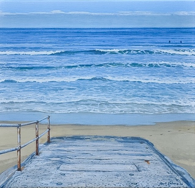 Oil on Linen - Australian Artist Mark Cairns - Title: Beach Access