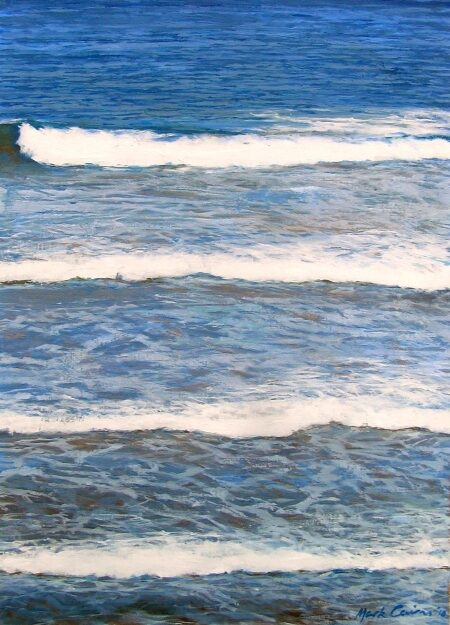 Waves by Mark Cairns - Artist - Oil on canvas paper