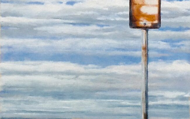 Sign - by Mark Cairns Artist - Barwon Heads - Australia Oil on Canvas Paper