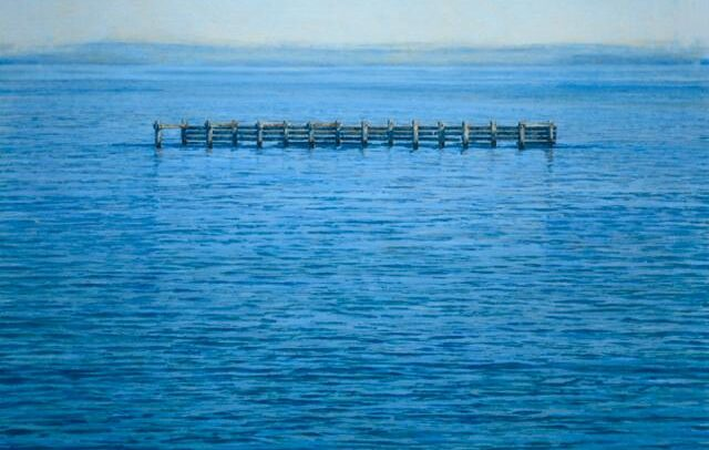 Pier Structure V - By Mark Cairns Artist - Barwon Heads, Victoria Australia