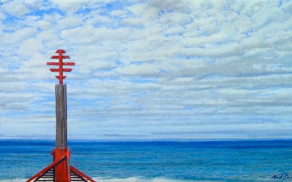 red beacon marker Mark Cairns Artist